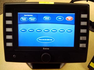 instructor's touch panel